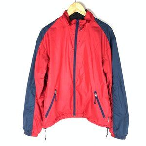 Mens Vintage MEC Red Lined Windbreaker Jacket Coat